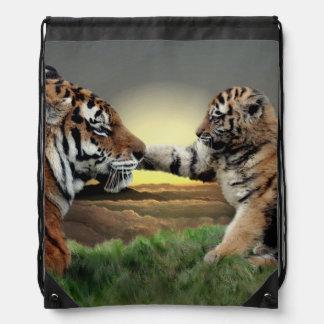 Tiger and Cub Digital Edition Drawstring Bag
