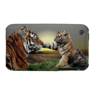 Tiger and Cub iPhone 3 Case-Mate Case