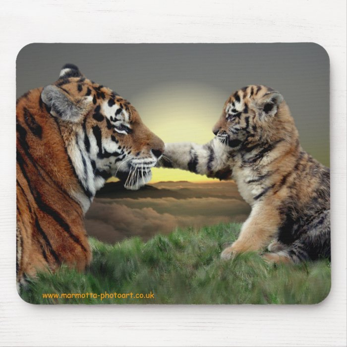Tiger and Cub Mousemat Mouse Pad