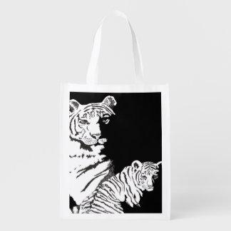 tiger and cub reusable grocery bag
