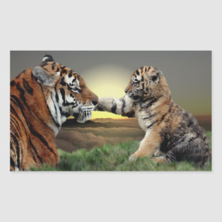 Tiger and Cub Stickers