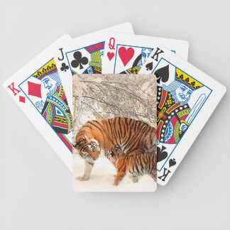 Tiger and cub - tiger bicycle playing cards
