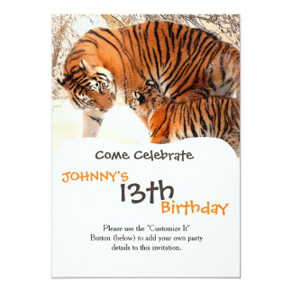 Tiger and cub - tiger card