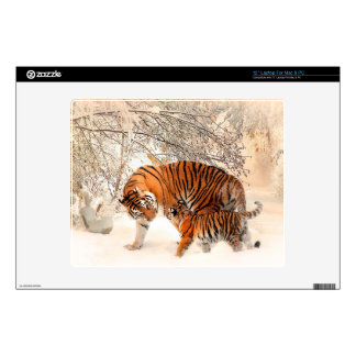 """Tiger and cub - tiger decals for 12"""" laptops"""
