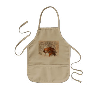 Tiger and cub - tiger kids' apron