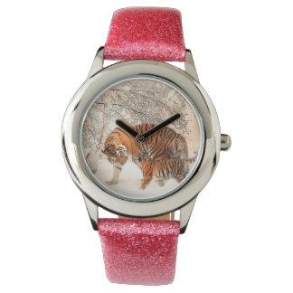 Tiger and cub - tiger wrist watch
