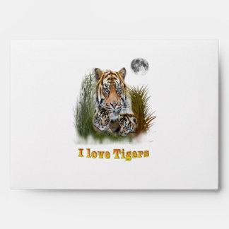 Tiger and cubs art envelope