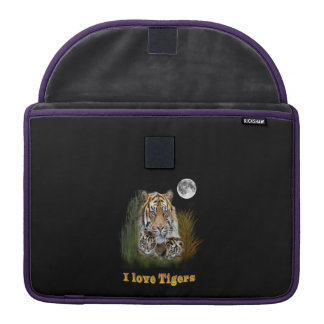 Tiger and cubs art sleeve for MacBook pro