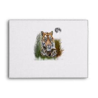 Tiger and Cubs Envelope
