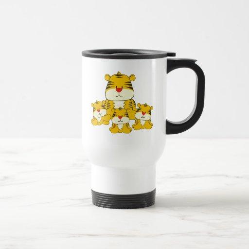 Tiger and Cubs Mug
