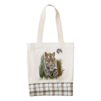 Tiger and Cubs Zazzle HEART Tote Bag