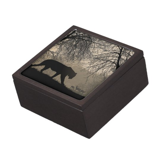 Tiger and Deer Keepsake Box