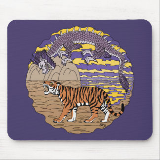 Tiger and Dragon Mouse Pad