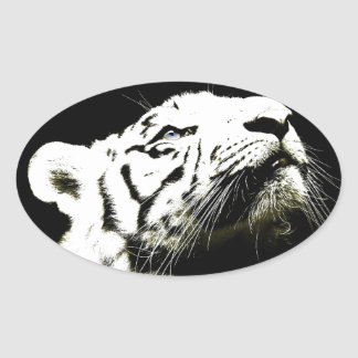 Tiger and Hope Oval Sticker