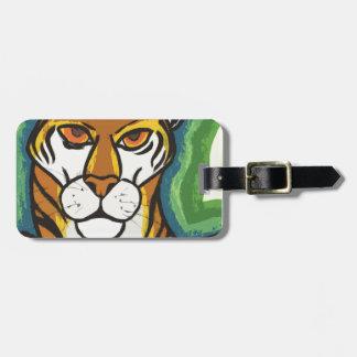 Tiger and leaf luggage tag