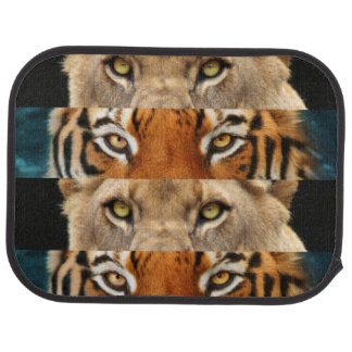 Tiger and Lion eyes Photo Car Mat