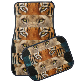 Tiger and Lion eyes Photo Floor Mat