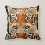 Tiger and Lion eyes Photo Pillow