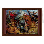 Tiger And Lion Hunting By Rubens Peter Paul Cards