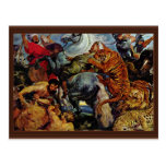 Tiger And Lion Hunting By Rubens Peter Paul Post Card