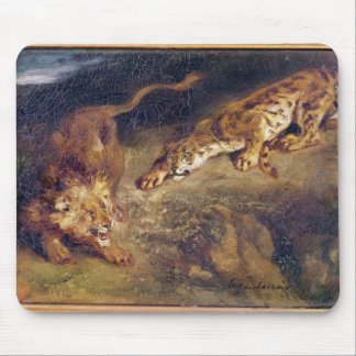 Tiger and Lion Mouse Pad