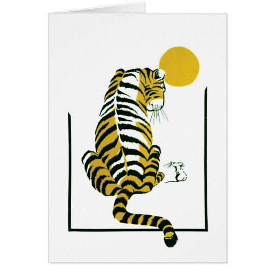Tiger and Mouse Friends Card