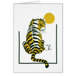 Tiger and Mouse Friends Greeting Card