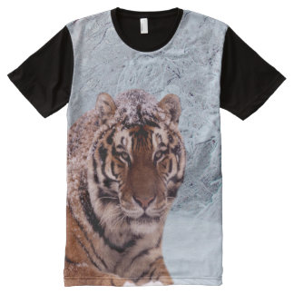 Tiger and Snow All-Over-Print Shirt