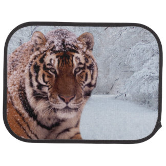 Tiger and Snow Car Floor Mat