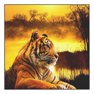 Tiger and Sunset Wall Panel