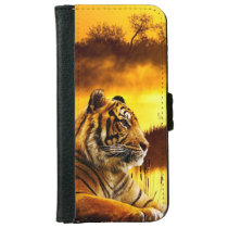 Tiger and Sunset Wallet Phone Case For iPhone 6/6s