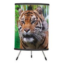 Tiger and Waterfall Tripod Lamp