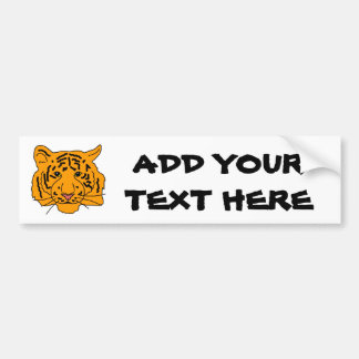 Tiger And Your Text Bumper Sticker