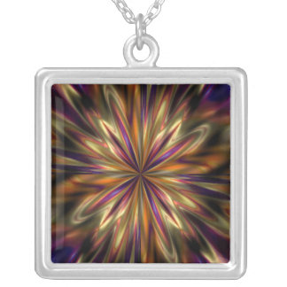 Tiger Anemone Silver Plated Necklace