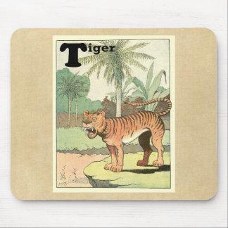 Tiger Animal Alphabet Mouse Pad