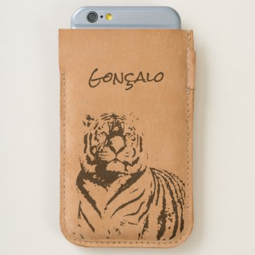 Tiger Animal Artistic Cool Looking Name Men Nature iPhone 6/6S Case
