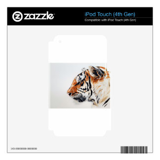Tiger Animal Nature Painting Watercolor Profile Decal For iPod Touch 4G