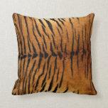 Tiger Animal Print Fur Texture Throw Pillows