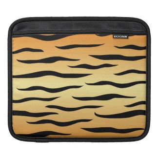 Tiger animal stripes pattern iPad sleeves