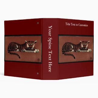Tiger - Antiquarian, Colorful Book Illustration 3 Ring Binder
