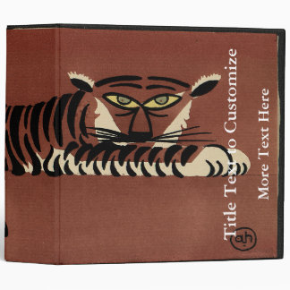Tiger - Antiquarian, Colorful Book Illustration Binder