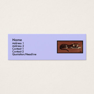 Tiger - Antiquarian, Colorful Book Illustration Mini Business Card