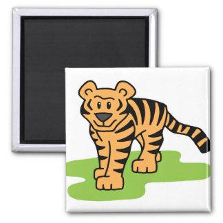 Tiger Art 2 Inch Square Magnet