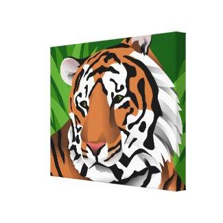 Tiger Art Canvas Print
