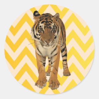 Tiger Art Gift Design Classic Round Sticker