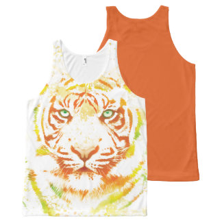Tiger Art Paint All-Over Print Tank Top