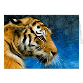 Tiger Art Painting Card