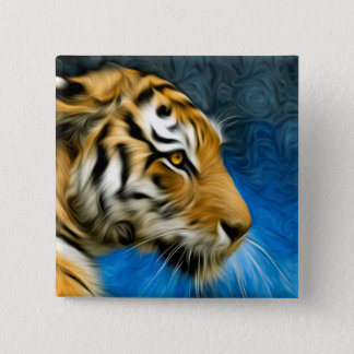 Tiger Art Painting Pinback Button