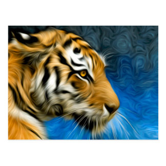 Tiger Art Painting Postcard