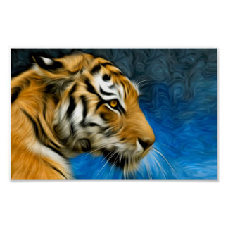 Tiger Art Painting Poster